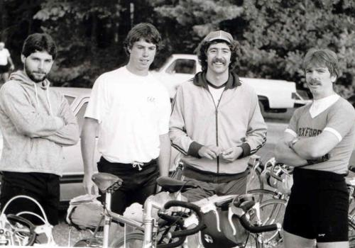 Mike Labonte, Mark Mackenzie, Mike Brown and Barry Davis in 1982.