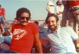 Todd Miller, right, with Barry Kraft in 1983