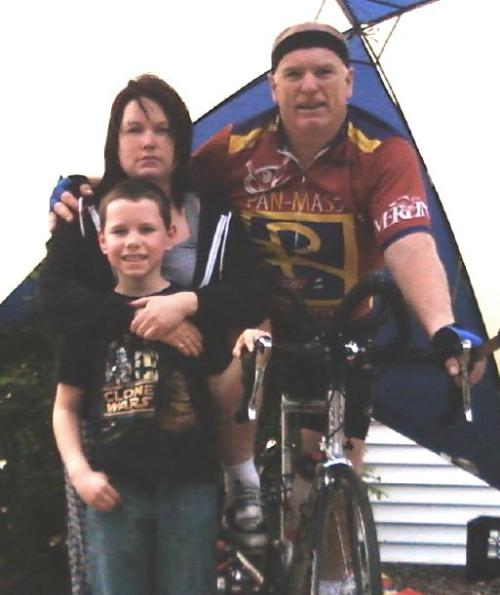 Barry with Shannon and her son