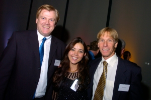 Overstock CEO Patrick Byrne, Worldstock Director, Neelab Kanishka, and PMC Founder Billy Starr